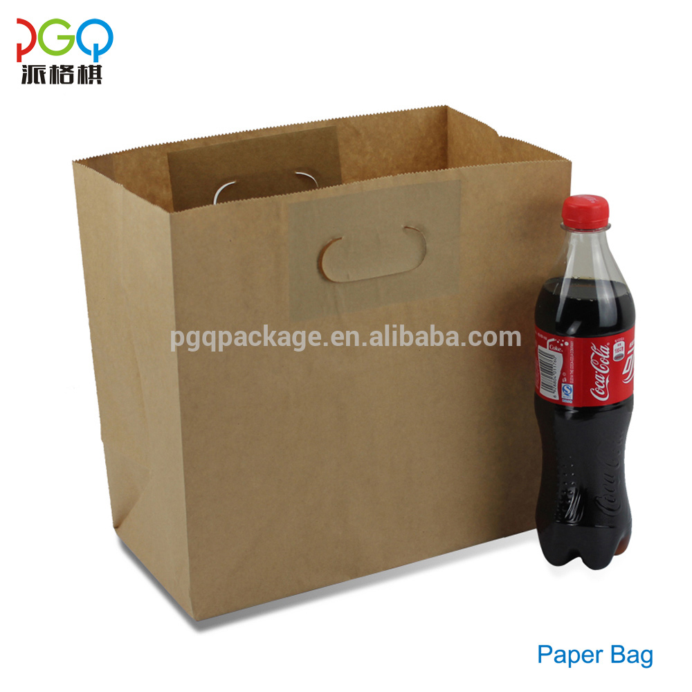 Factory direct sale Customized colorful kraft paper food bag for food or shopping